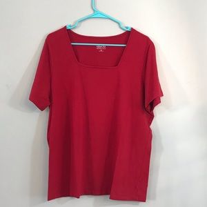 D&co red top size 1x